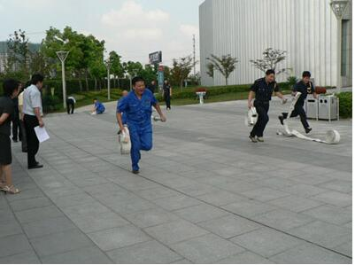 冀舜物业开展消防演练培训活动